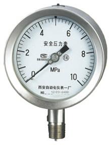 YQHA-107安全型全不锈钢压力表