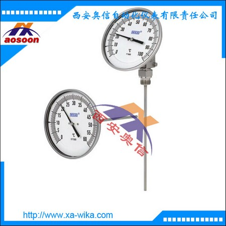 威卡双金属温度计 TG53.3ZBM-1-C1LZ-BK-W060GZZ双金属温度表 WIK