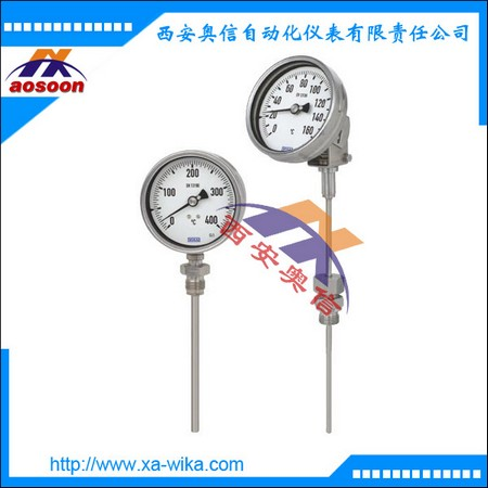 WIKA就地温度表A5500/1.100 威卡双金属温度计 0~160°C