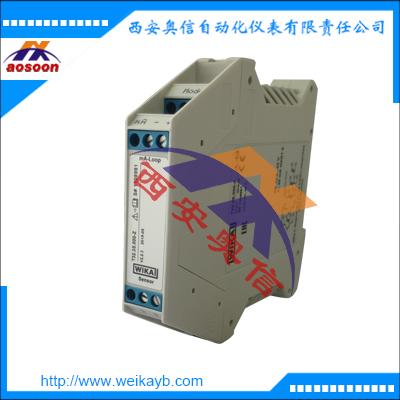 威卡T91.30模拟式温度变送器 固定测量范围 温度模块 导轨安装