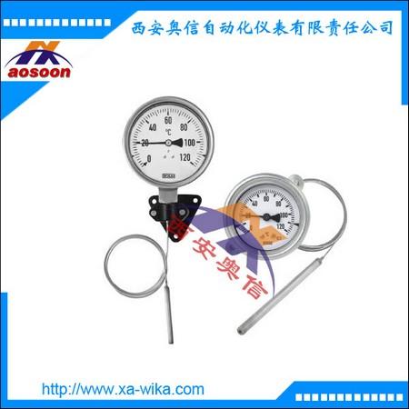 威卡TGT70膨胀式温度计 带电输出信号 不锈钢系列直插式或毛细管