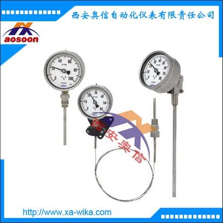 威卡TGT73汽包式温度计 带电信号输出 不锈钢 威卡