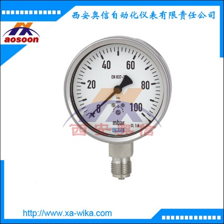 威卡wika不锈钢膜盒压力表633.50.100和633.50.160 威卡压力表