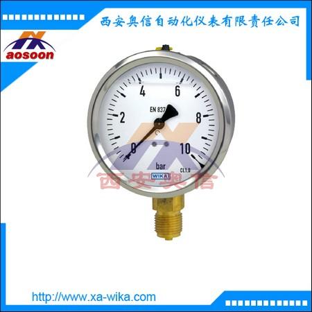 213.53.063威卡压力表213.53.100耐震压力表 铜接头 充油型 现货