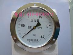 Y-100ZT 轴向带边压力表
