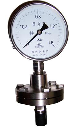隔膜压力表YTP-100 ,YTP-150耐腐隔膜压力表