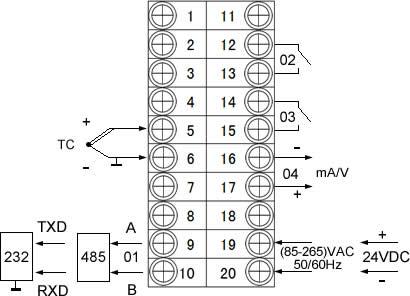 时钟控制接线图